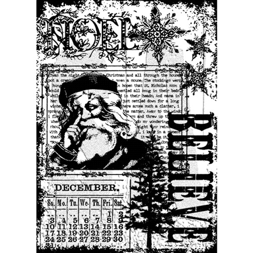 Tim Holtz Cling Rubber ATC Stamp CHRISTMAS MIRACLE COM025 Preview Image