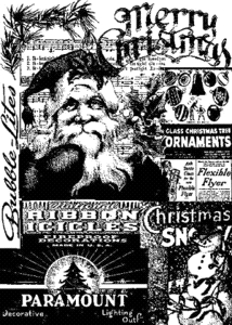 Tim Holtz Cling Rubber ATC Stamp FIRST CHRISTMAS Stampers Anonymous COM026 zoom image