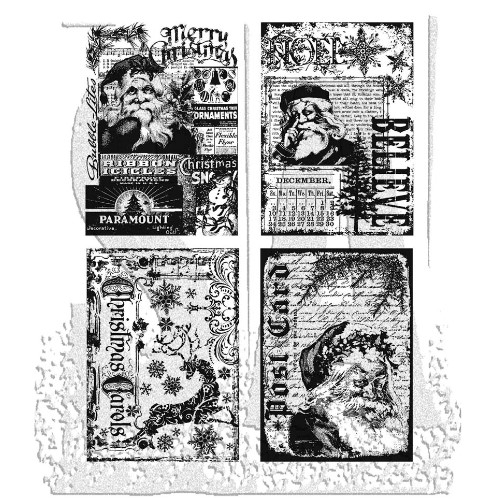 Tim Holtz Cling Rubber Stamps HOLIDAY COLLECTIONS CMS051 Preview Image