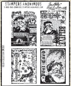 Tim Holtz Cling Rubber Stamps HOLIDAY COLLECTIONS CMS051 zoom image