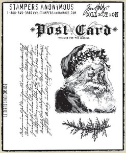 Tim Holtz Cling Rubber Stamps LETTER TO SANTA Christmas CMS053