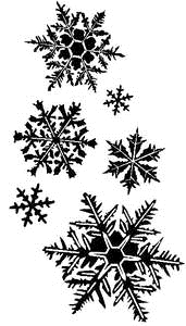 Tim Holtz Rubber Stamp FLURRIES Snowflakes Stampers Anonymous K3-1372 zoom image