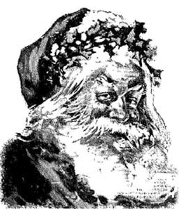 Tim Holtz Rubber Stamp SANTA SKETCH Christmas u2-1379