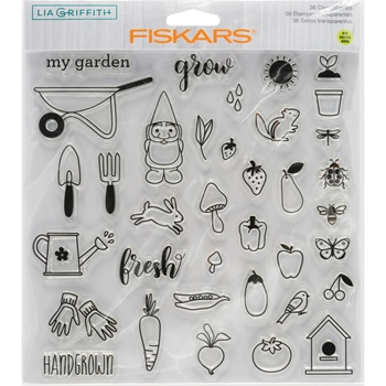 Fiskars Lia Griffith HAND GROWN Clear Stamps 90132