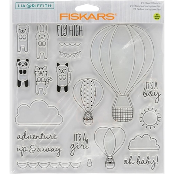 Fiskars Lia Griffith OH BABY Clear Stamps 90133