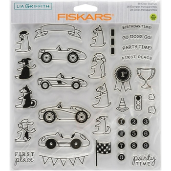 Fiskars Lia Griffith PARTY TIME Clear Stamps 90134