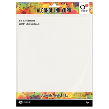 Tim Holtz 8 X 10 WHITE ALCOHOL INK YUPO PAPER Ranger tac63346