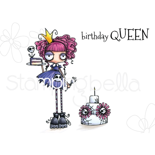 Stamping Bella Cling Stamp ODDBALL BIRTHDAY QUEEN eb694 Preview Image