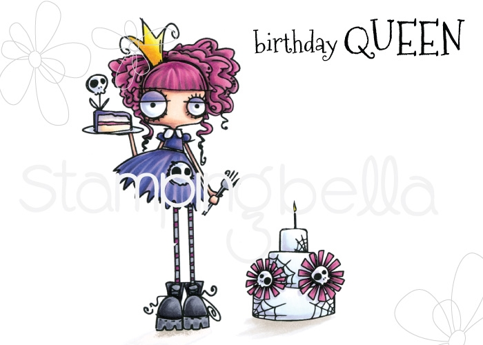 Stamping Bella Oddball Birthday Queen Cling Stamp Set