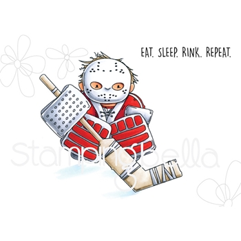 Stamping Bella Cling Stamp GOALIE SQUIDGY eb696