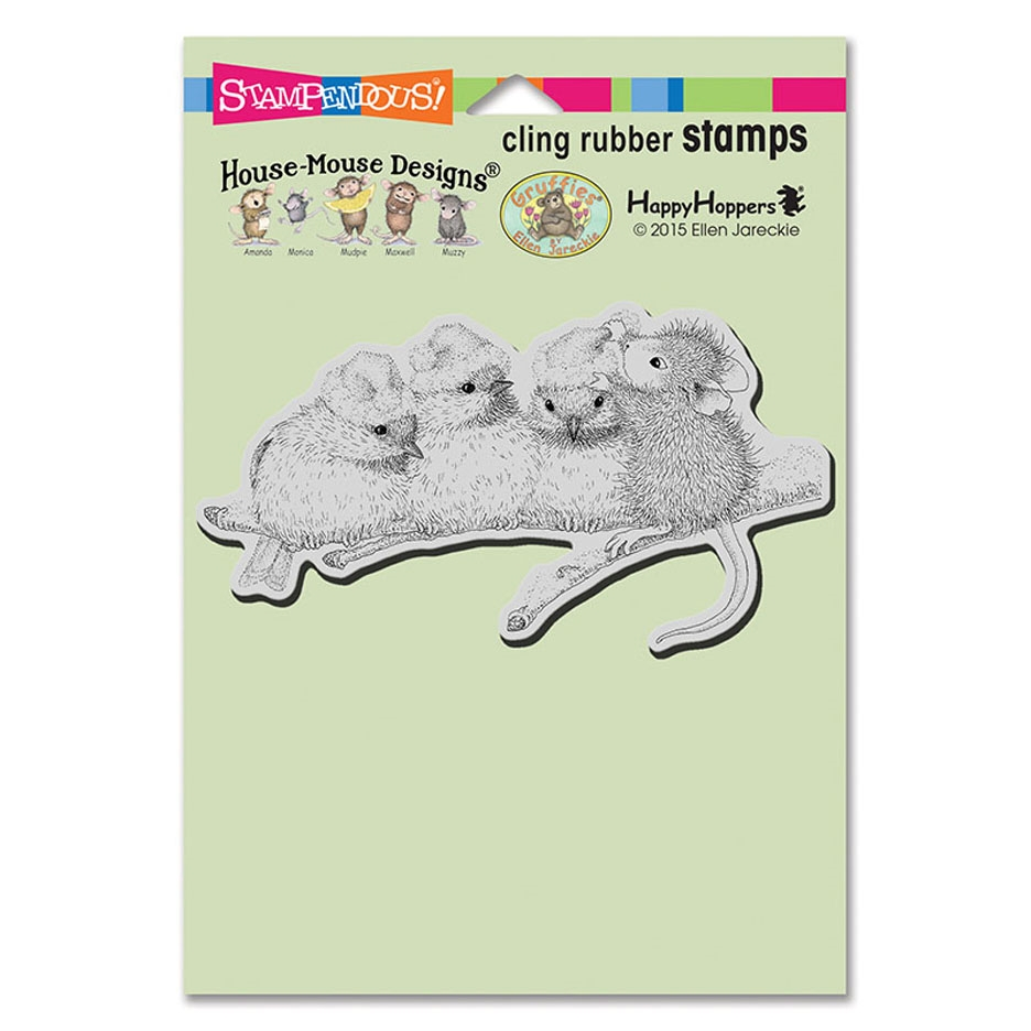 Stampendous Cling Stamp SANTA HAT BIRDS hmcp100 House Mouse  zoom image