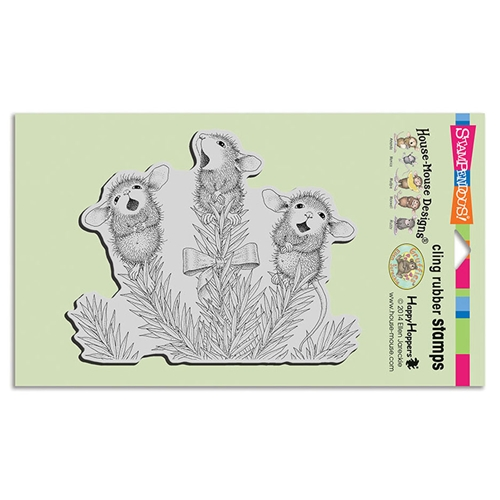 Stampendous Cling Stamp PINE CAROLERS hmcr121 House Mouse Preview Image