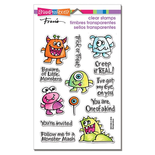 Stampendous Clear Stamps LITTLE MONSTERS ssc1284 Preview Image