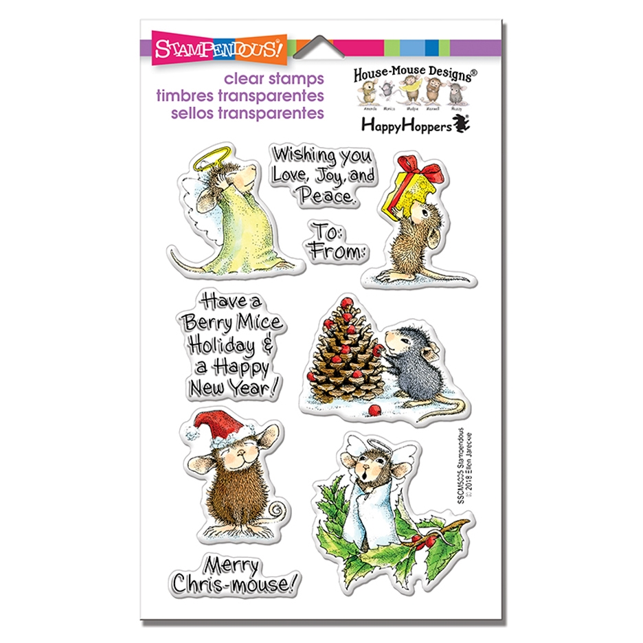 Stampendous House Mouse Merry Mice Clear Stamp Set