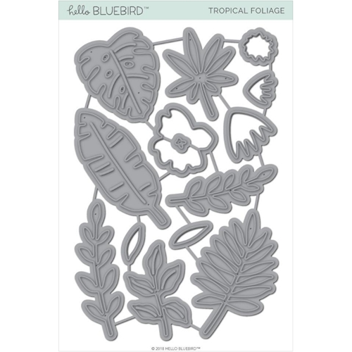 Hello Bluebird TROPICAL FOLIAGE Die Set hb2100 Preview Image