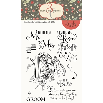 Colorado Craft Company Lovely Legs MR. AND Mrs. Clear Stamps LL208*