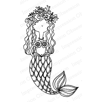 Impression Obsession Cling Stamp MERMAID JULIE E19803