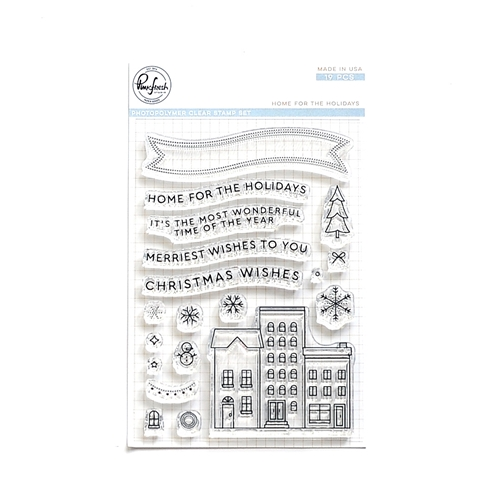 Pinkfresh Studio HOME FOR THE HOLIDAYS Clear Stamp Set pfcs4018 Preview Image