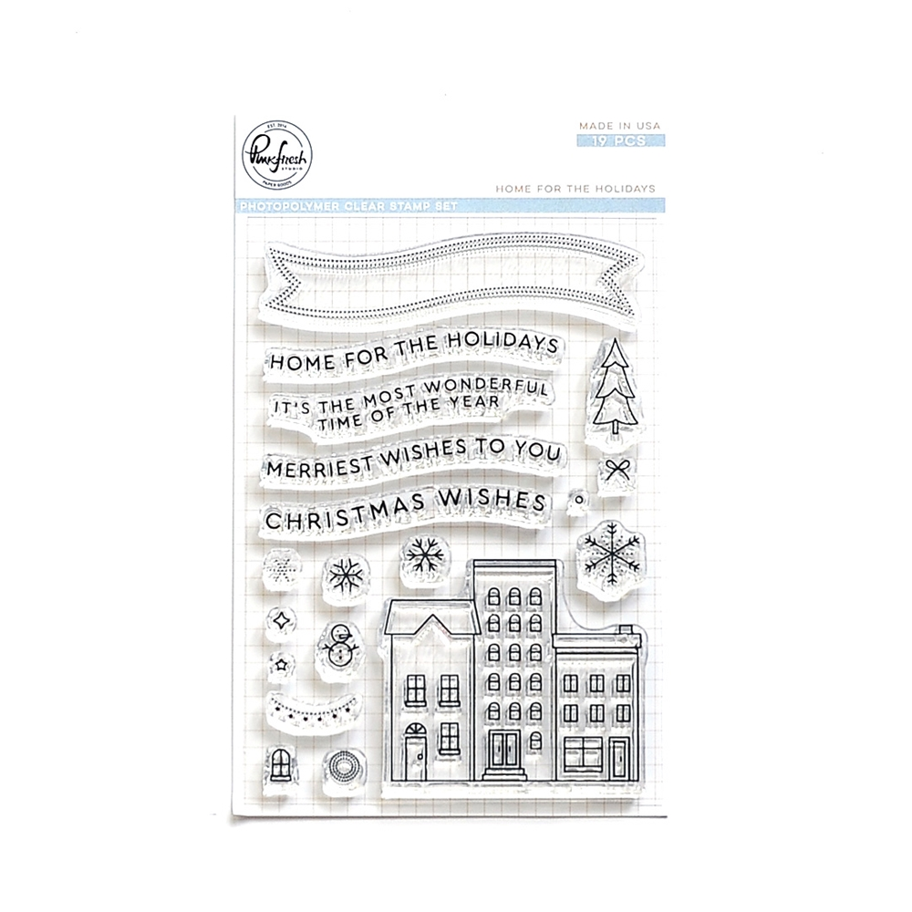 Pinkfresh Studio HOME FOR THE HOLIDAYS Clear Stamp Set pfcs4018 zoom image