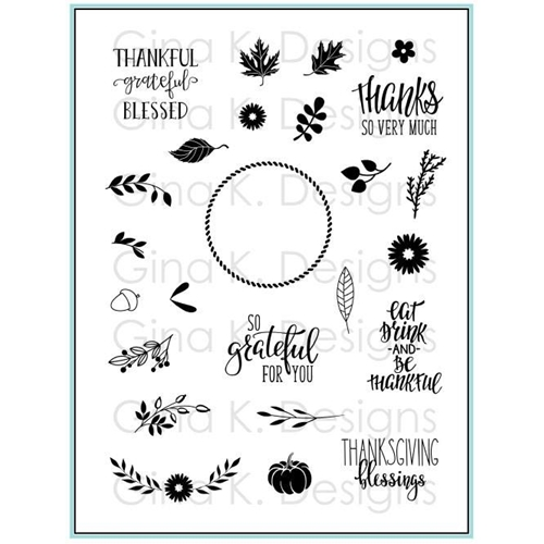 Gina K Designs AUTUMN WREATH BUILDER Clear Stamps 3573 Preview Image