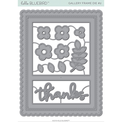 Hello Bluebird GALLERY FRAME 2 Die Set hb2126 Preview Image