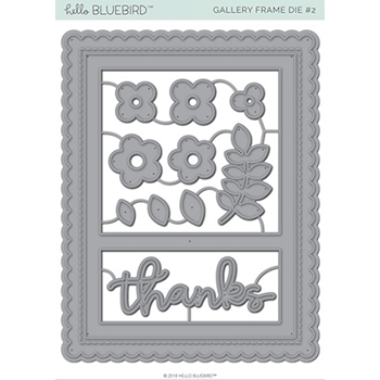 Hello Bluebird GALLERY FRAME 2 Die Set hb2126