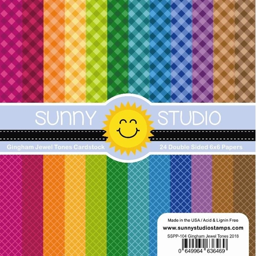 Sunny Studio GINGHAM JEWEL TONES Paper Pad SSPP-104 Preview Image