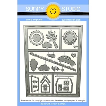 Sunny Studio COMIC STRIP EVERYDAY Snippets Die SunnySS 100*