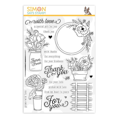 Simon Says Clear Stamps MANDY'S FLOWERS sss101877 Preview Image