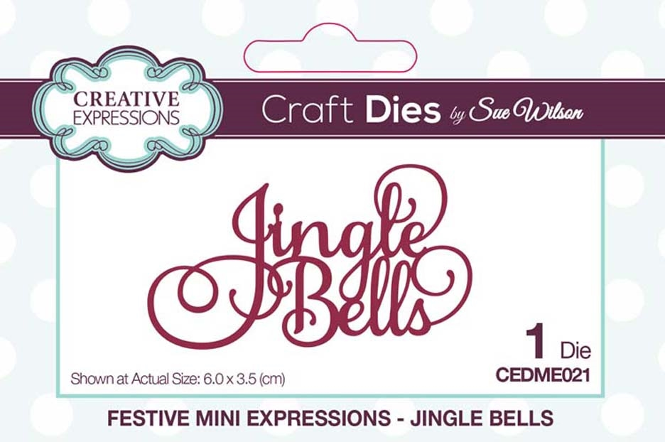 Creative Expressions JINGLE BELLS Sue Wilson Festive Mini Expressions Die cedme021 zoom image