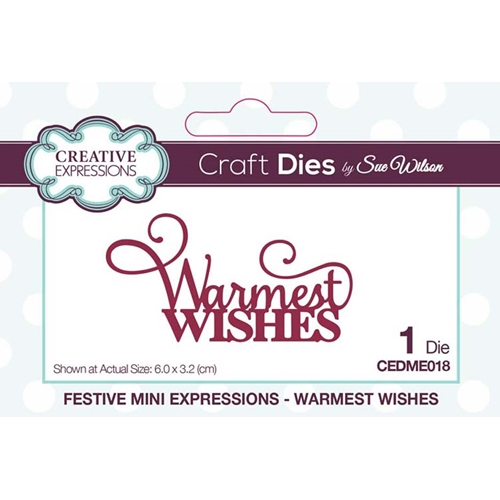 Creative Expressions WARMEST WISHES Sue Wilson Festive Mini Expressions Die cedme018 Preview Image