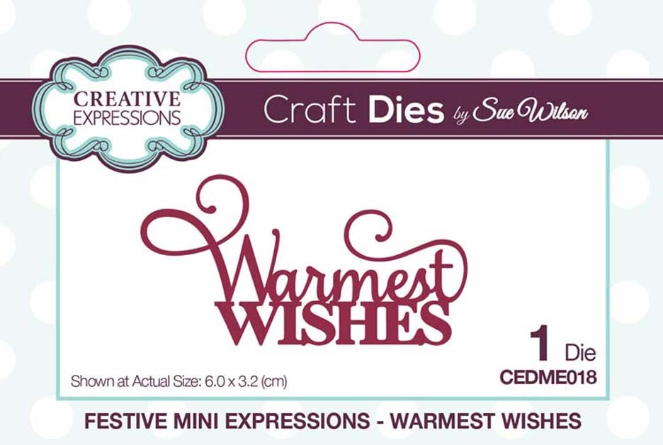 Creative Expressions WARMEST WISHES Sue Wilson Festive Mini Expressions Die cedme018 zoom image