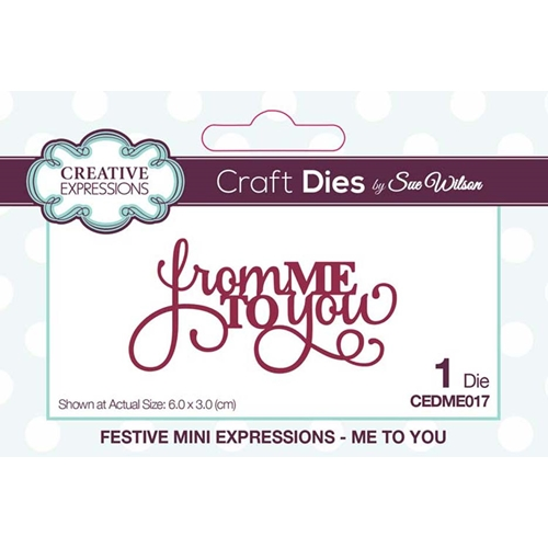 Creative Expressions ME TO YOU Sue Wilson Festive Mini Expressions Die cedme017 Preview Image