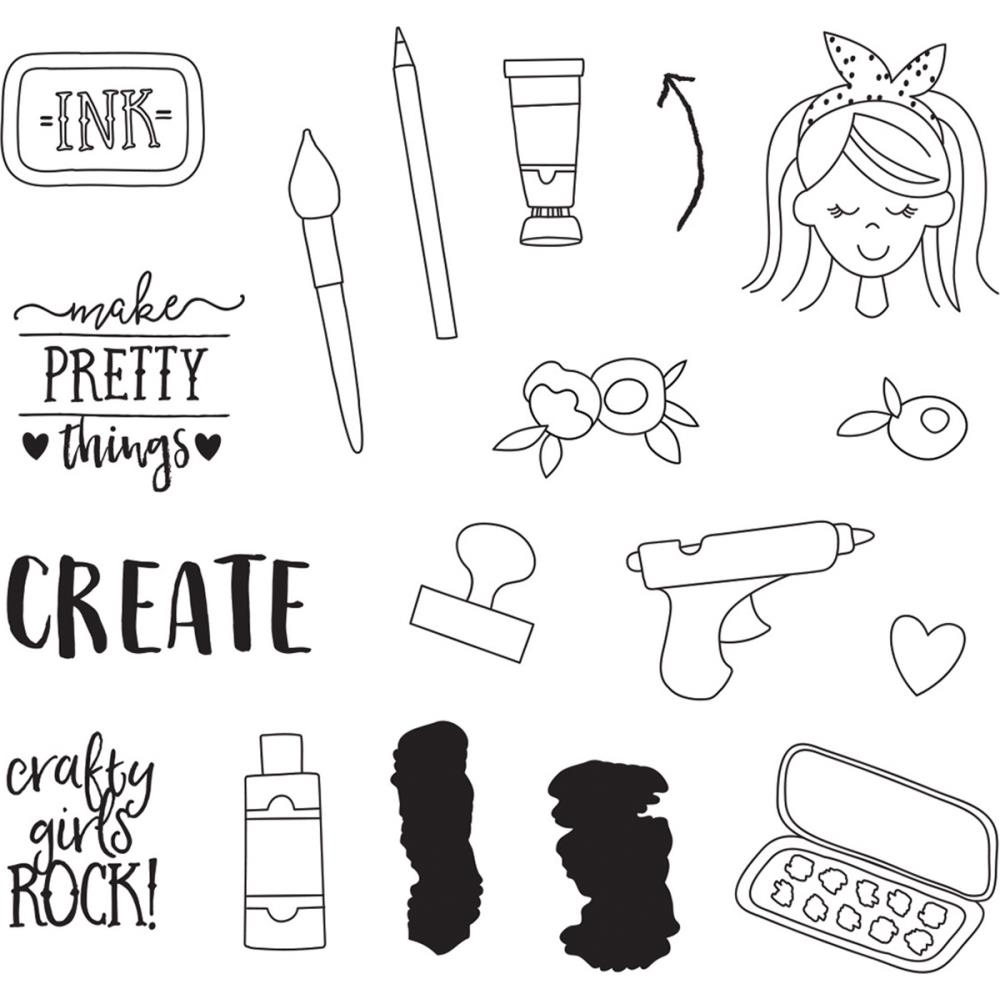 Simple Stories CREATE IT Clear Stamp Set 10424 zoom image
