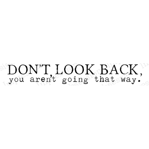 Impression Obsession Cling Stamp DON'T LOOK BACK B17240 Preview Image