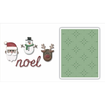 RESERVE Tim Holtz Sizzix CHRISTMAS Side-Order Thinlits and Embossing Folder 663112