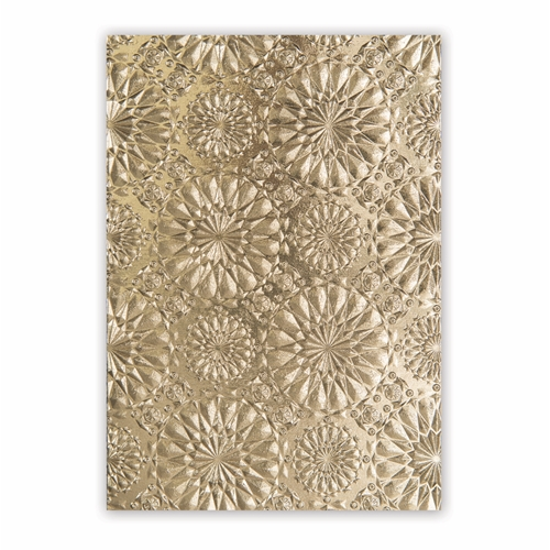 Tim Holtz Sizzix KALEIDOSCOPE 3D Texture Fades Embossing Folder 663296 ** Preview Image