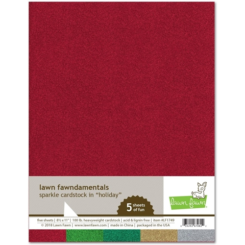Lawn Fawn HOLIDAY Sparkle 8.5 x 11 Cardstock LF1749 Preview Image