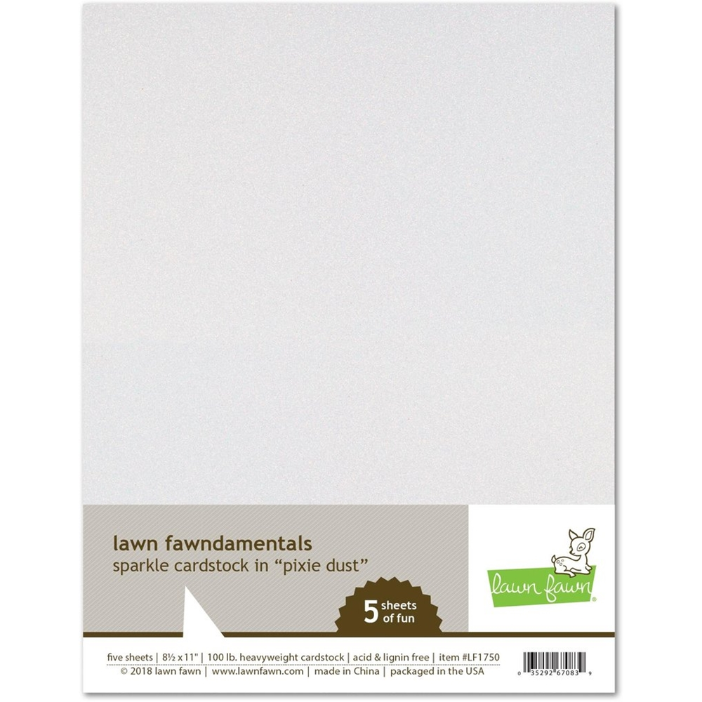 Lawn Fawn PIXIE DUST Sparkle 8.5 x 11 Cardstock LF1750 zoom image