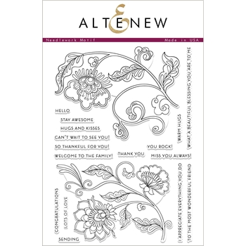 Altenew NEEDLEWORK MOTIF Clear Stamps ALT2427