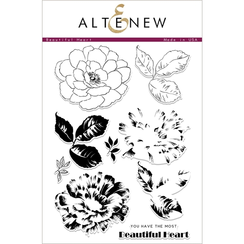 Altenew BEAUTIFUL HEART Clear Stamps ALT2414 Preview Image