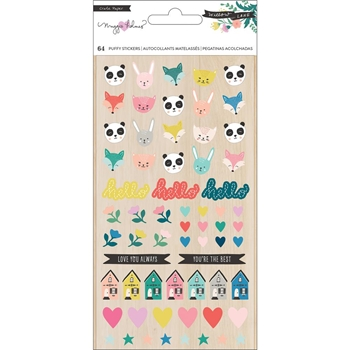 Crate Paper WILLOW LANE Puffy Stickers 344482