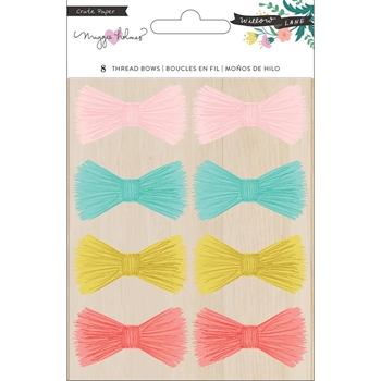 Crate Paper WILLOW LANE Adhesive Thread Bows 344470*