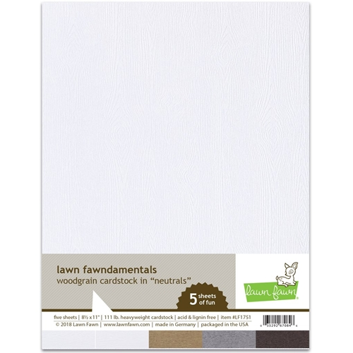 Lawn Fawn WOODGRAIN Neutrals 8.5 x 11 Cardstock LF1751 Preview Image