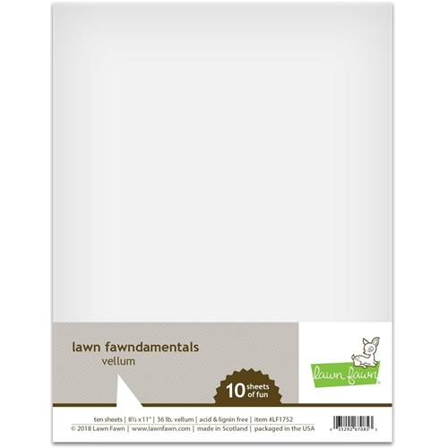 Lawn Fawn VELLUM 8.5 x 11 Translucent LF1752 Preview Image