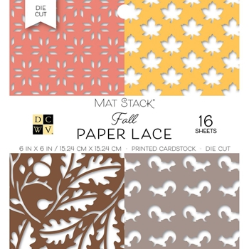 DCWV 6 x 6 FALL PAPER LACE Mat Stack 614570