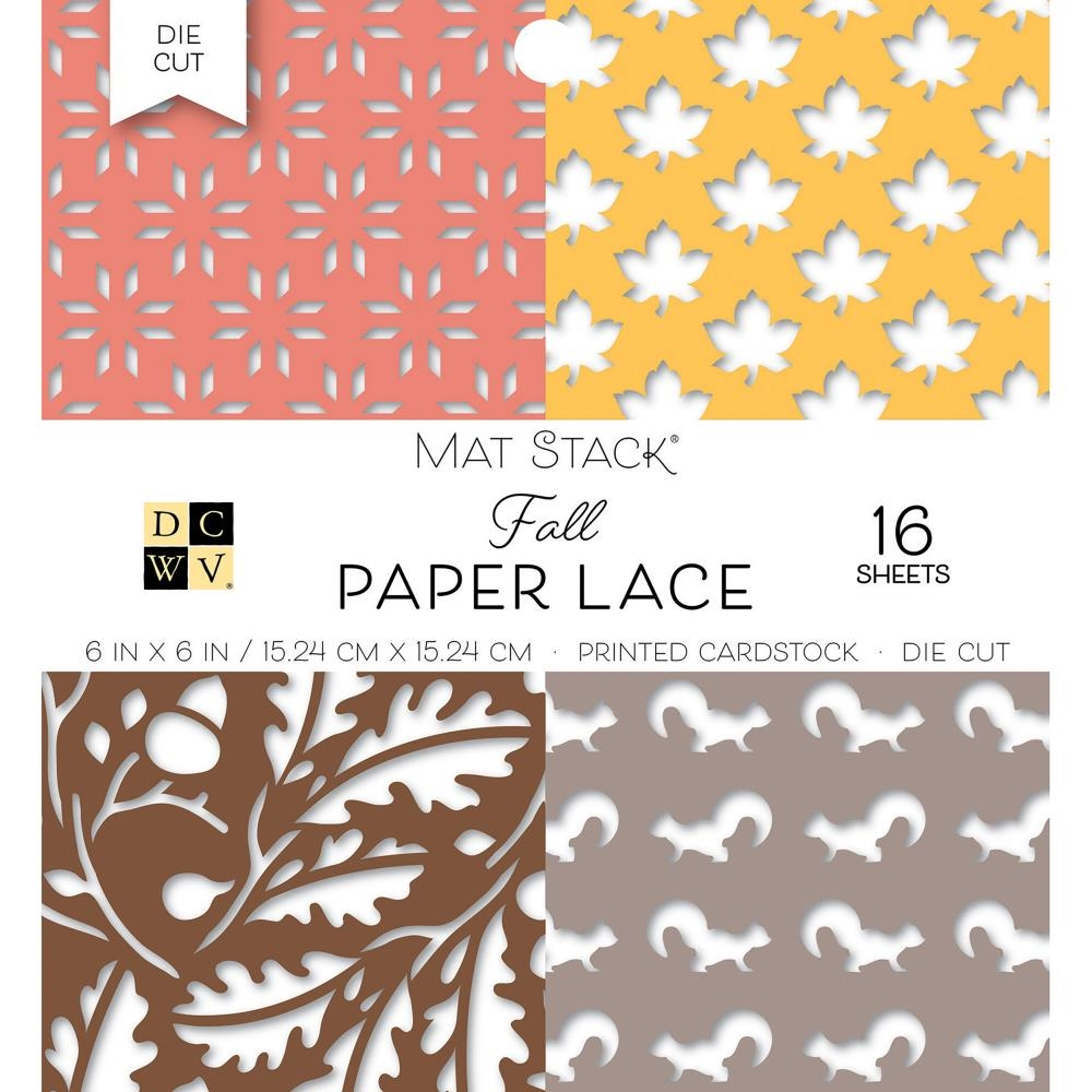 DCWV 6 x 6 FALL PAPER LACE Mat Stack 614570 zoom image