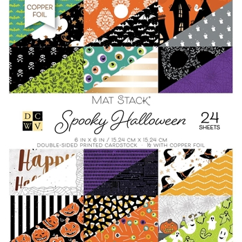 DCWV 6 x 6 SPOOKY HALLOWEEN Mat Stack 614581*