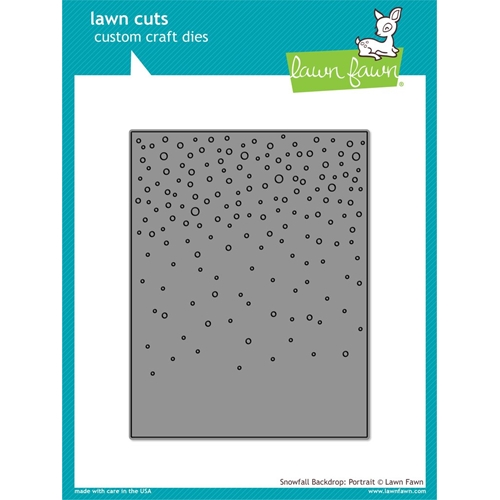 Lawn Fawn Portrait Snowfall Backdrop Die