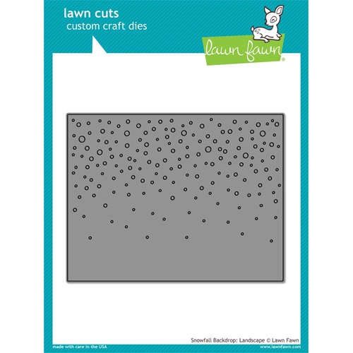 Lawn Fawn Landscape Snowfall Background Die